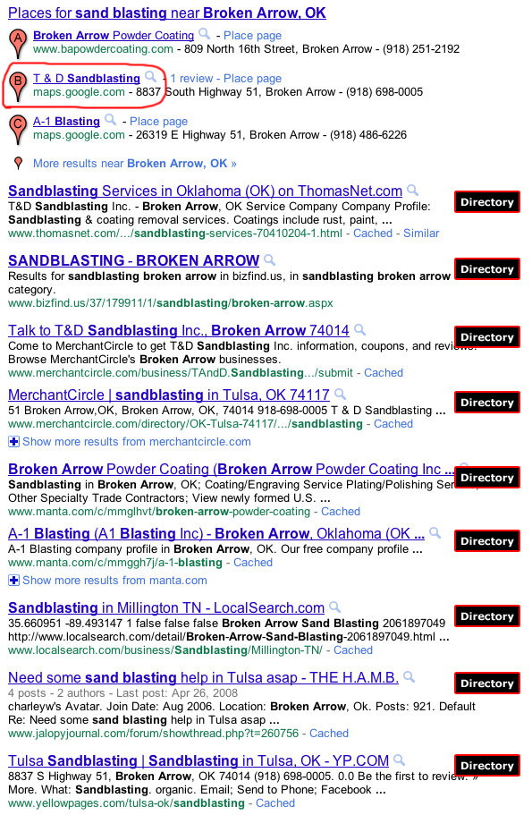 Search Engine Marketing Using Local Directories